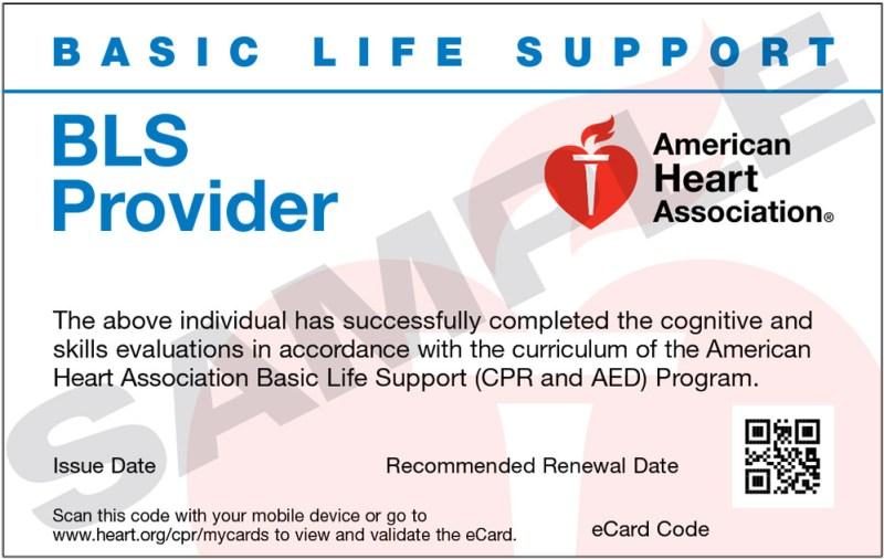 Lost My Cpr Certification Card American Heart Association Dedicard