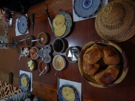 Breakfast with delicious breads
