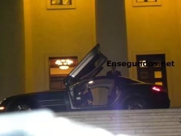 El carro en el que llegaron Raymond y Miguel