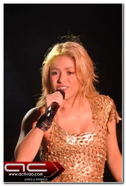 Hubo  inconvenientes en el concierto de Shakira