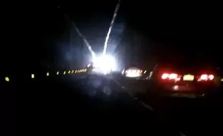 Túnel  de Santo Domingo Este completamente apagado (video)