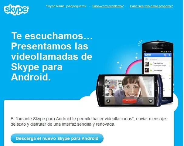 Lo nuevo: Videollamadas de Skype para Android