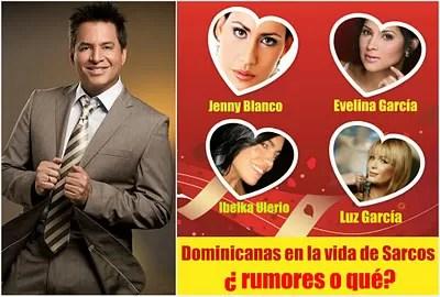 Lista de las supuestas novias del presentador Daniel Sarcos en República Dominicana