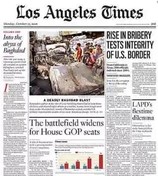 El diario Los Angeles Times empezará a cobrar a sus lectores en línea