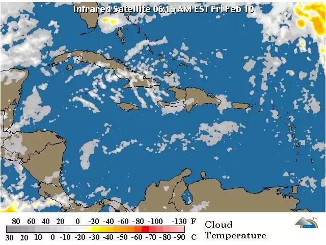 Fin de semana con lluvias débiles en República Dominicana
