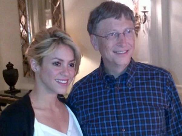 Shakira se reunió con el empresario Bill Gates