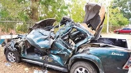 Viajando a 140 kilómetros por hora mueren 7  en accidente: Santiago