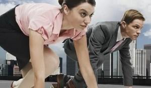 carrera hombre mujer oficina