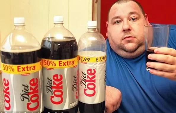 pérdida de peso de refrescos de dieta