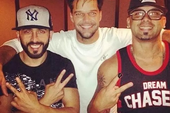 Ricky Martin se fue a grabar con Wisin & Yandel
