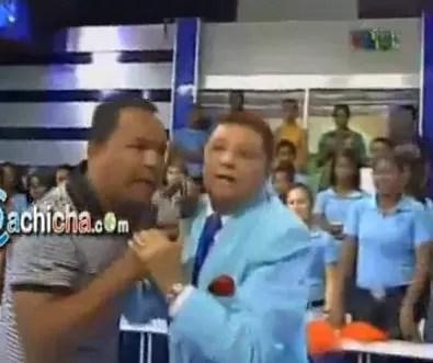 El  Pachá saca a Sandy Sandy de su programa alegando estaba borracho (video)