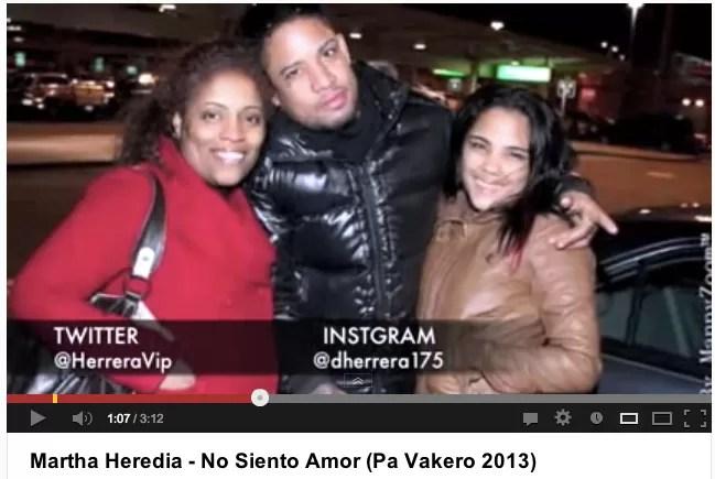 Nuevo tema de Martha Heredia – No Siento Amor (Pa Vakero 2013)