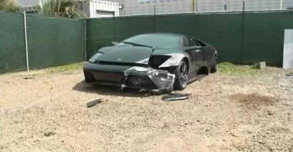 ¿Cómo destrozar un carísimo Lamborghini en un estúpido accidente?