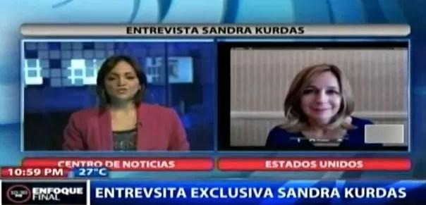 Sandra Kurdas dice que Frank Jorge Elías la golpeó con una hebilla (Entrevista)