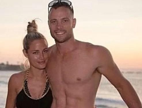 Oscar Pistorius y su novia