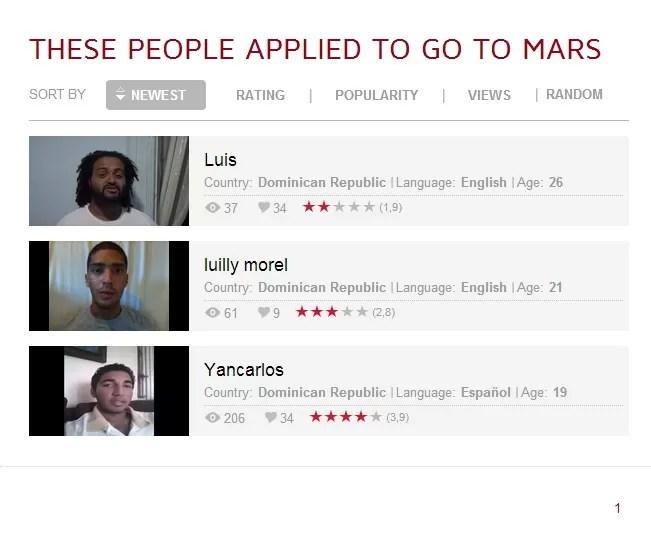 Dominicanos opinan sobre el viaje a Marte
