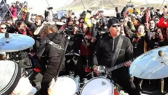Metallica subió a YouTube su concierto en la Antártida