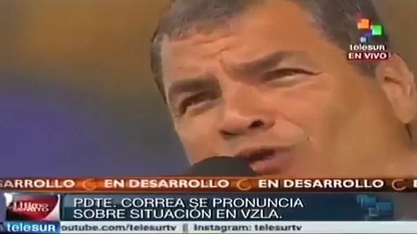 Presidente de Ecuador dice Nuria Piera tiene una doble moral (Video)