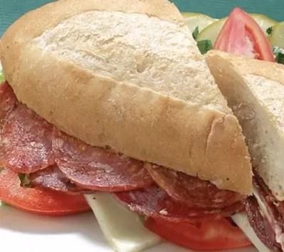 Pan con salami
