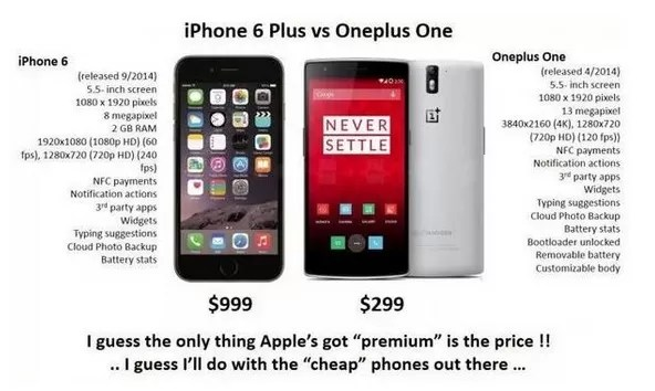 iphone vs One