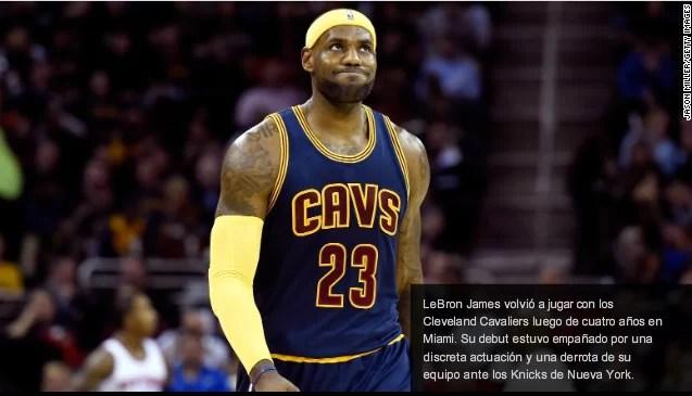 LeBron James no quiere volver a perder