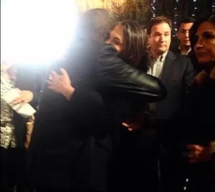 Abrazo de Kiko y Florinda Mesa