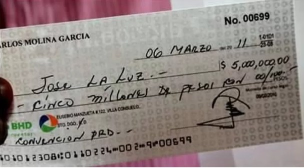 Cheque Jose La Luz