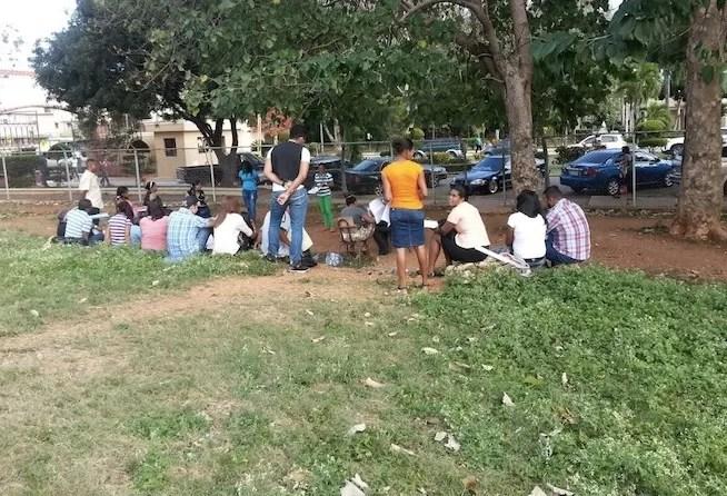 Estudiantes UASD aún reciben clases debajo de los árboles