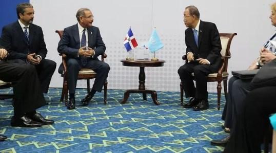 Danilo Medina y Ban Ki moon