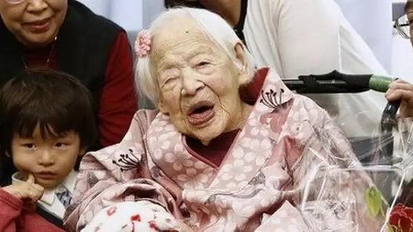 Misao Okawa, falleció hoy a los 117 años de edad por causas naturales. (AFP)