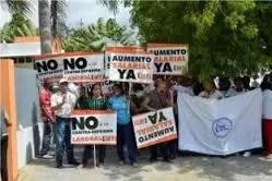 protestan frente al Ministerio de Trabajo
