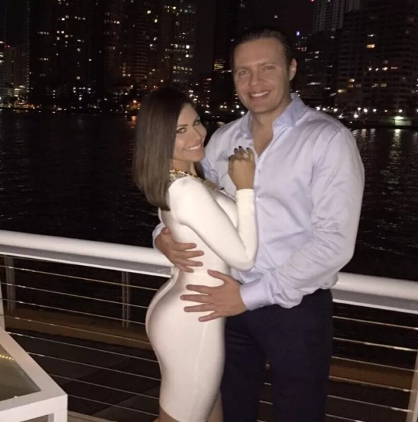 Jenny Blanco y su novio