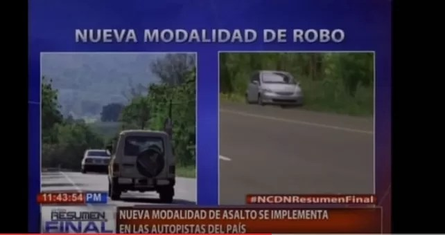 Video: La nueva «modalidad de atraco» en la autopista Duarte
