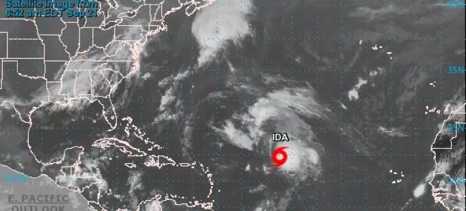 La tormenta Ida se fortalece