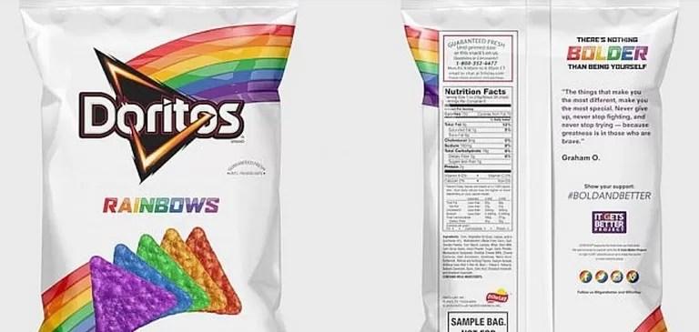 Doritos arcoíris, la nueva edición que apoya a los gays