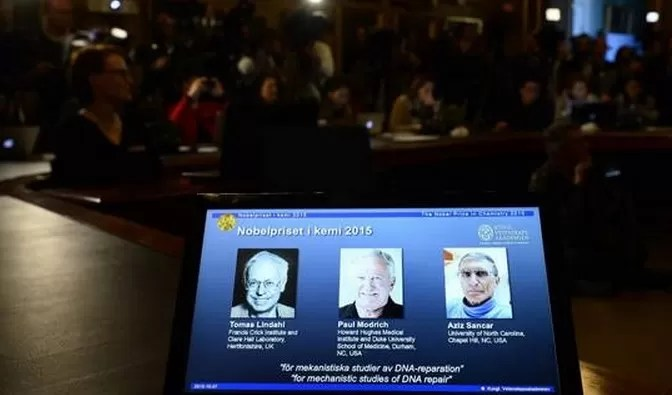 Nobel de Química para tres científicos por su trabajo sobre reparación del ADN