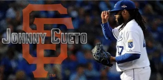 Jhonny Cueto firma con los Gigantes de San Francisco