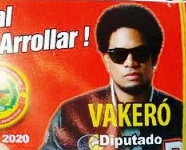 Vakeró aparece  en afiches para diputado