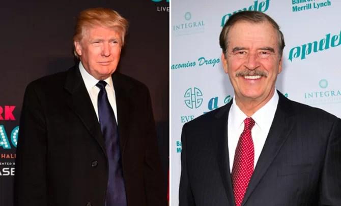Trump, 'falso profeta' que llevará a EE.UU. 'al precipicio', dice Vicente Fox