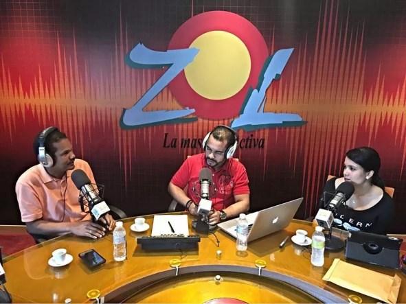 De izquierda a derecha, Radhames Silverio, Jimmy Rosario y Yuberkis Chevalier
