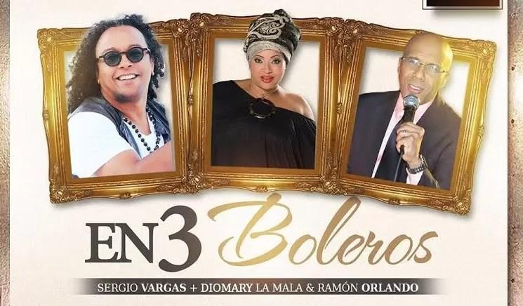 """Entre boleros"""" unirá hoy  a Sergio Vargas, Diomary La Mala y Ramón Orlando"""