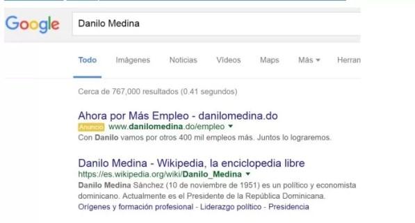 Danilo Medina google