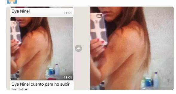 La actriz Ninel Conde se deja ver en fotos íntimas para rechazar una extorsión
