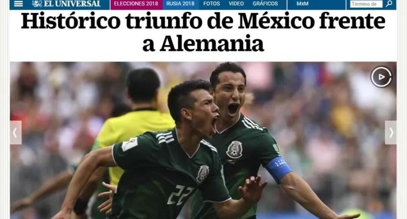Los medios mexicanos, extasiados tras victoria del Tri ante Alemania