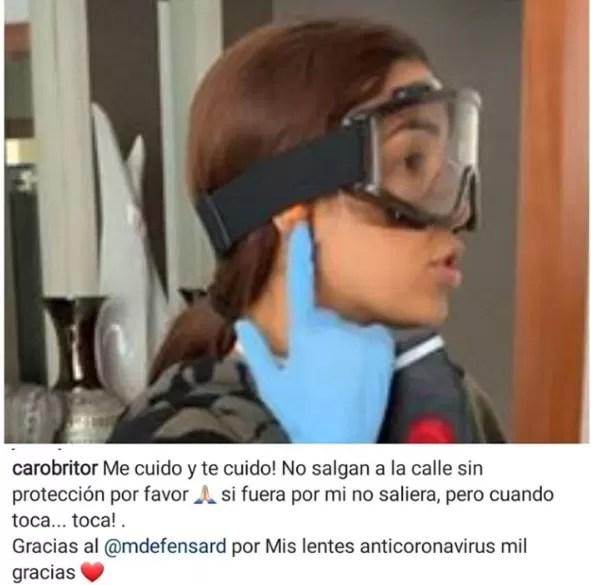 """Presentadora agradece al Ministerio de Defensa regalo de una máscara """"antivirus"""""""