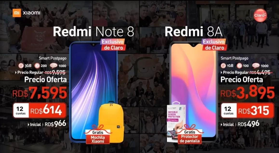 Claro presenta modelos de Xiaomi