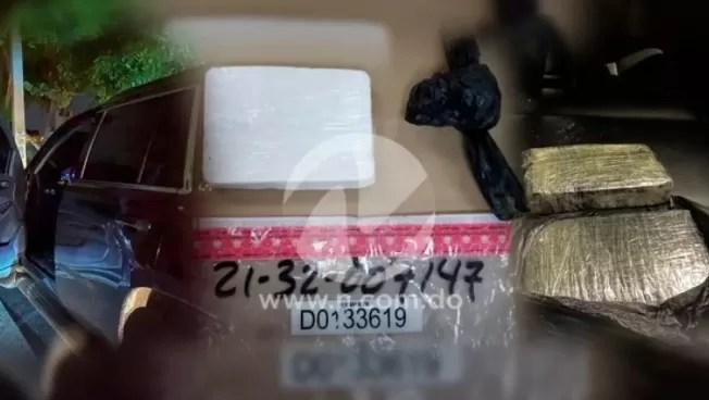 En una yipeta abandonada, DNCD ocupa dos kilos de cocaína