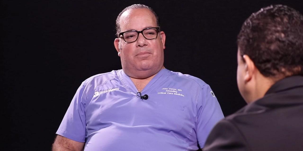 """José Rafael Yunén """"Entre un 75 y 85% de los ingresados en cuidados intensivos no se han puesto la vacuna"""""""