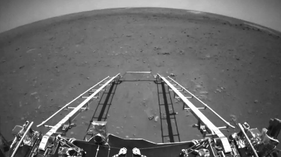 Robot chino envía primeras imágenes desde Marte