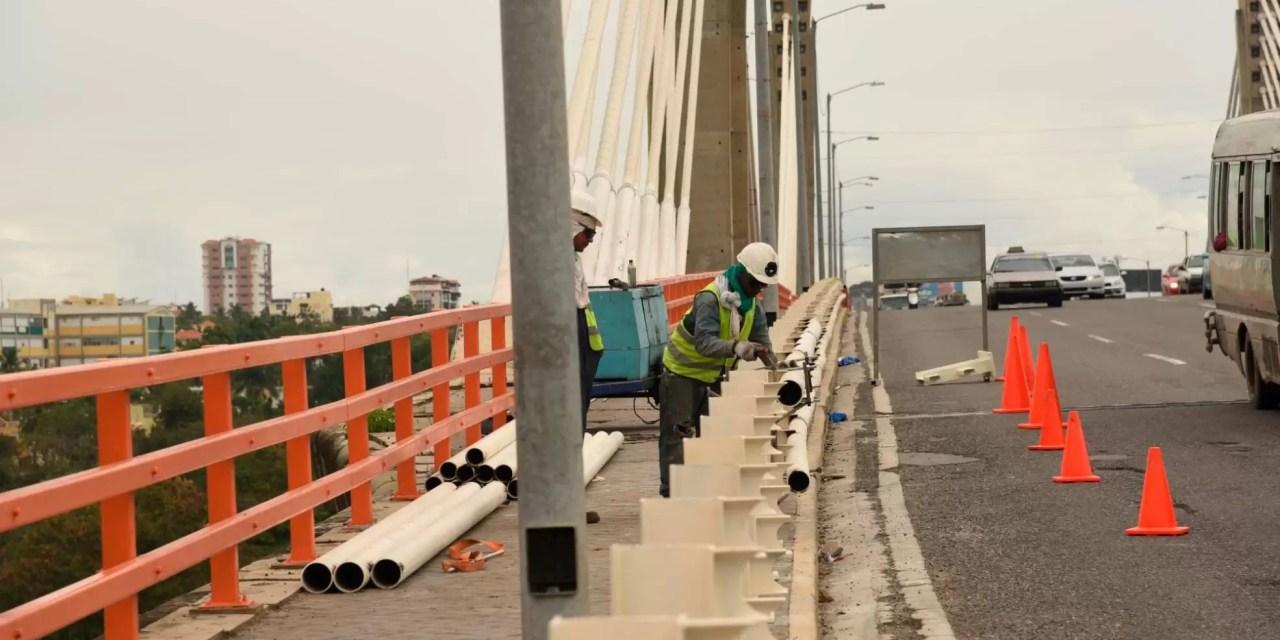 Carriles del puente Juan Bosch serán intervenidos de dos en dos